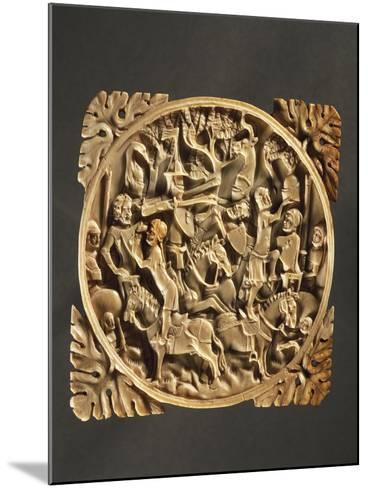 Battle Scene, Ivory Mirror Box, 1380, France--Mounted Giclee Print