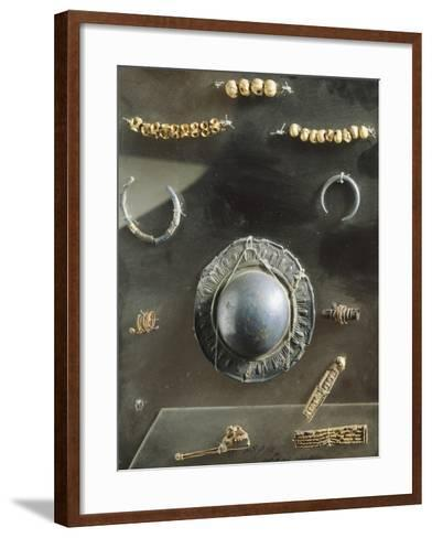 Funerary Objects, Including Jewelry. Etruscan Civilization, 7th Century BC--Framed Art Print