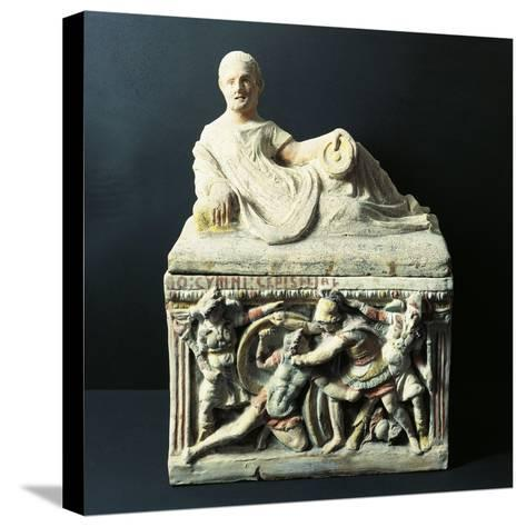 Etruscan Civilization, Urn Depicting Duel Between Eteocles and Polynices--Stretched Canvas Print