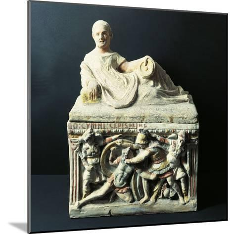Etruscan Civilization, Urn Depicting Duel Between Eteocles and Polynices--Mounted Giclee Print