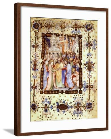 Miniature from the Book of Hours Visconti or Offiziolo Visconti, 14th-15th Century--Framed Art Print