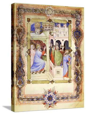 Miniature from the Book of Hours Visconti or Offiziolo Visconti, 14th-15th Century--Stretched Canvas Print