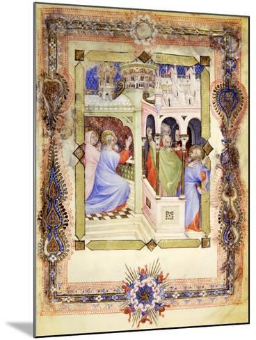 Miniature from the Book of Hours Visconti or Offiziolo Visconti, 14th-15th Century--Mounted Giclee Print