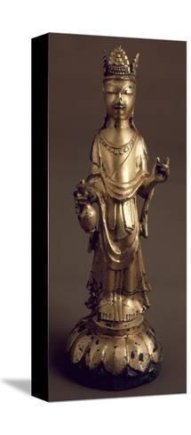 Avalokitesvara, Bodhisattva of Great Compassion, Gilded Bronze Statue, Korea--Stretched Canvas Print