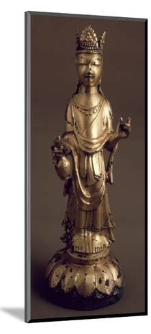 Avalokitesvara, Bodhisattva of Great Compassion, Gilded Bronze Statue, Korea--Mounted Giclee Print