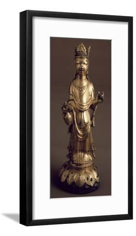 Avalokitesvara, Bodhisattva of Great Compassion, Gilded Bronze Statue, Korea--Framed Art Print