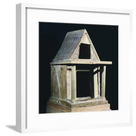 Small-Scale Model Offered to Heraion of Argos, Greece,7th Century BC, Ancient Greece--Framed Art Print