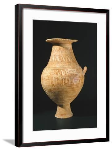 Amphora Decorated in Geometric Patterns, from Trevignano Romano, Lazio, Italy--Framed Art Print