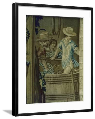 Autumn Tapestry Woven, 16th Century, Detail of Crushing Grapes--Framed Art Print