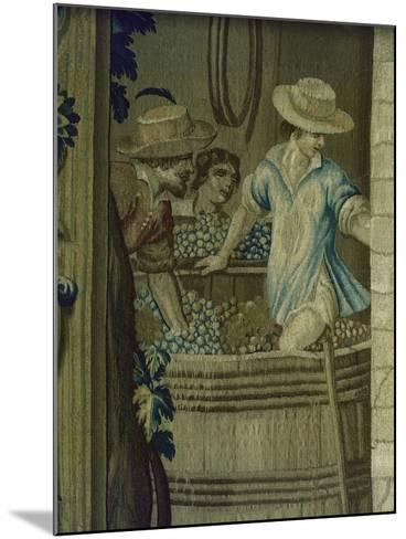 Autumn Tapestry Woven, 16th Century, Detail of Crushing Grapes--Mounted Giclee Print