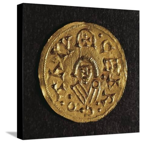 Gold Triens of Recared I, King of Visigoths in Spain, Verso, Visigothic Coins, 6th-7th Century--Stretched Canvas Print