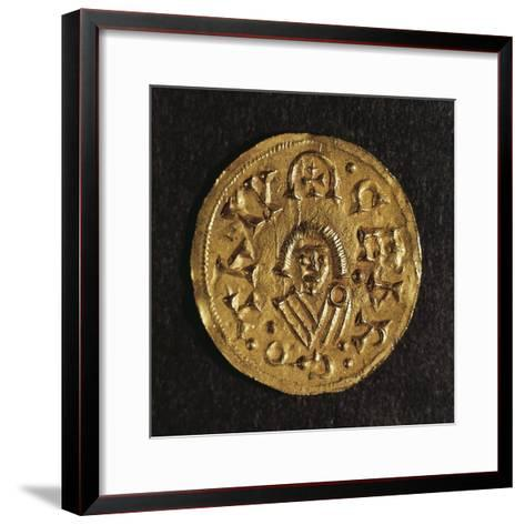 Gold Triens of Recared I, King of Visigoths in Spain, Verso, Visigothic Coins, 6th-7th Century--Framed Art Print