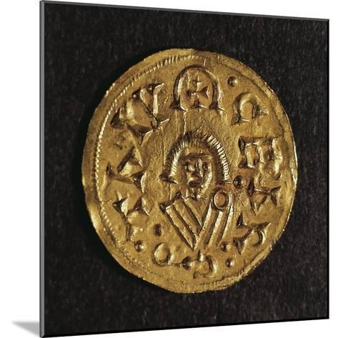 Gold Triens of Recared I, King of Visigoths in Spain, Verso, Visigothic Coins, 6th-7th Century--Mounted Giclee Print