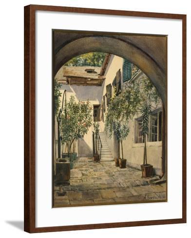 Austria, Vienna, Courtyard of the House of Franz Joseph Haydn in Eisenstadt--Framed Art Print