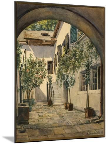 Austria, Vienna, Courtyard of the House of Franz Joseph Haydn in Eisenstadt--Mounted Giclee Print