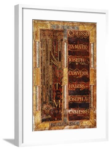 Illuminated Initial Capital Letter from the Godescalco Gospels, Germany 8th Century--Framed Art Print