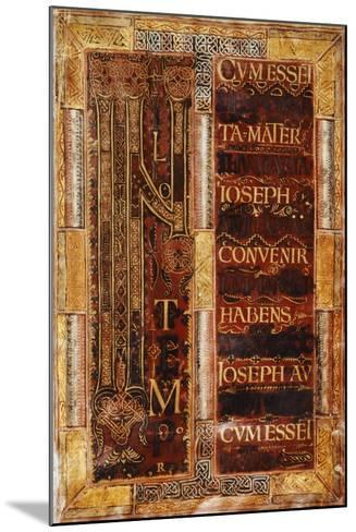 Illuminated Initial Capital Letter from the Godescalco Gospels, Germany 8th Century--Mounted Giclee Print