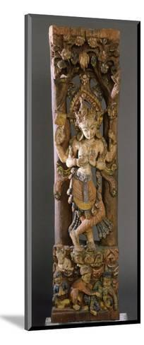 Decorative Bracket from Roof of Temple, Colored Wood, Nepal--Mounted Giclee Print