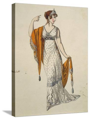Austria, Vienna, Costume Sketch for Performance the Clemency of Titus--Stretched Canvas Print