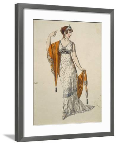 Austria, Vienna, Costume Sketch for Performance the Clemency of Titus--Framed Art Print