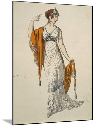 Austria, Vienna, Costume Sketch for Performance the Clemency of Titus--Mounted Giclee Print