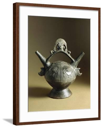 Lambayeque Style Vase, Peru, Chimu Culture--Framed Art Print