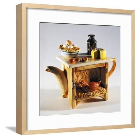Collectible Teapot, Ceramic, Italy--Framed Art Print