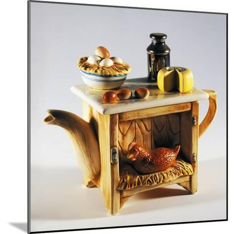 Collectible Teapot, Ceramic, Italy--Mounted Giclee Print