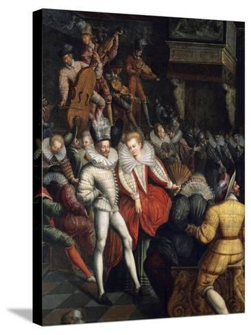 Dance at Valois Court, Circa 1580--Stretched Canvas Print