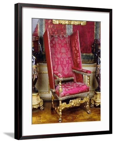 Charles II Style Carved and Gilt Wood Armchair known as Sleeping Chair with Adjustable Back, 1679--Framed Art Print