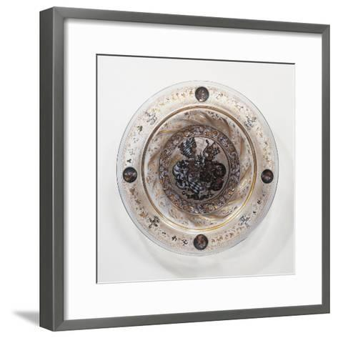 Coldworked Clear Glass Plate, 1536, Hall Glassware, Austria, 16th Century--Framed Art Print