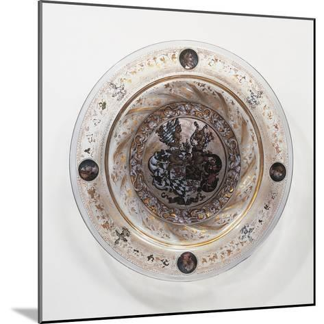 Coldworked Clear Glass Plate, 1536, Hall Glassware, Austria, 16th Century--Mounted Giclee Print