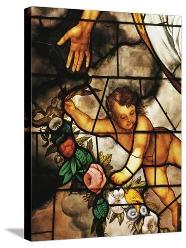 Italy, Milan Cathedral, Detail of Stained-Glass Window Depicting Stories of the Old Testament--Stretched Canvas Print