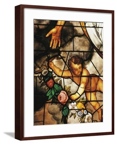 Italy, Milan Cathedral, Detail of Stained-Glass Window Depicting Stories of the Old Testament--Framed Art Print