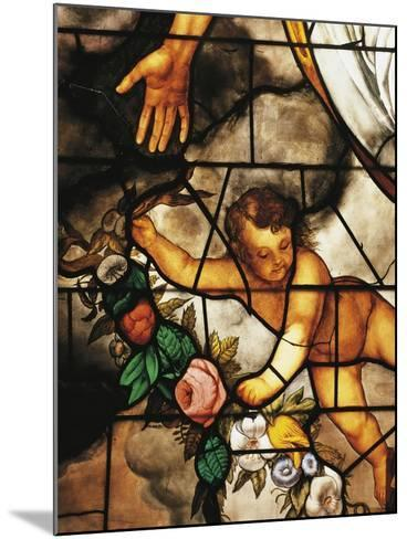 Italy, Milan Cathedral, Detail of Stained-Glass Window Depicting Stories of the Old Testament--Mounted Giclee Print