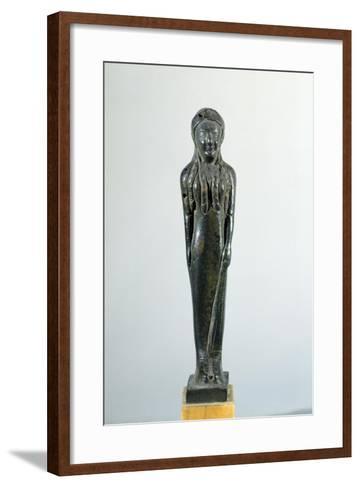 Kore in Bronze, 530-520 BC--Framed Art Print