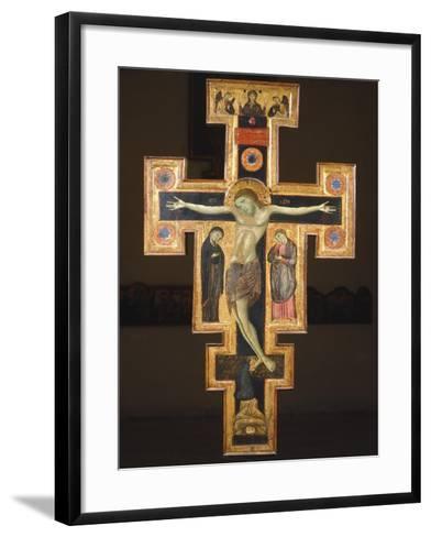 Crucifix, 12th Century--Framed Art Print