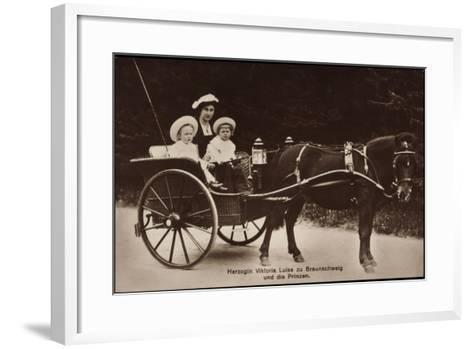 Herzogin Viktoria Luise Zu Braunschweig Und Lüneburg, Prinzen, Kutsche--Framed Art Print