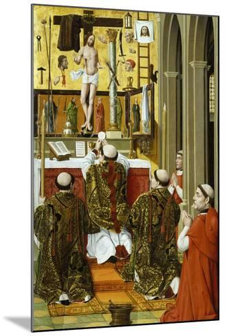 Mass of St Gregory, Detail from Convent of St Clare Altarpiece in Valencia--Mounted Giclee Print