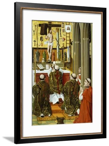 Mass of St Gregory, Detail from Convent of St Clare Altarpiece in Valencia--Framed Art Print