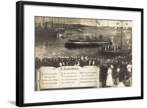 Deutsche U Boote, Empfang, Parade, Gedicht--Framed Art Print