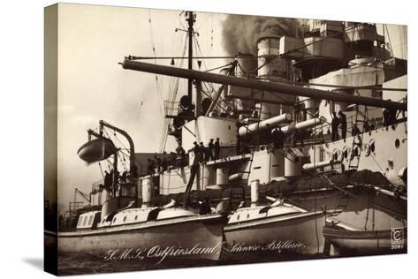 Kriegsschiff S. M. S. Ostfriesland, Schw. Artillerie--Stretched Canvas Print