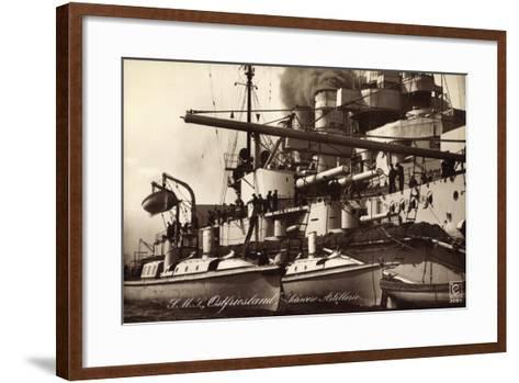 Kriegsschiff S. M. S. Ostfriesland, Schw. Artillerie--Framed Art Print