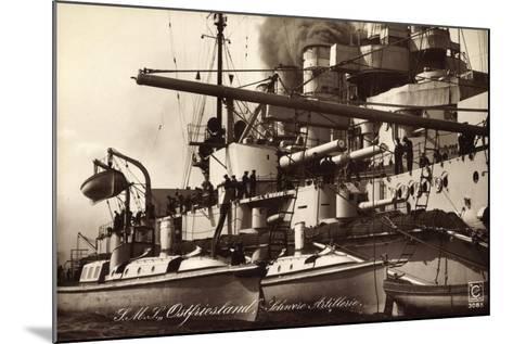 Kriegsschiff S. M. S. Ostfriesland, Schw. Artillerie--Mounted Giclee Print