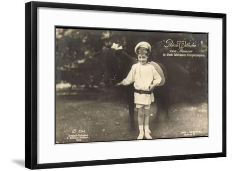 Prinz Wilhelm Von Preußen, Pony, Photochemie 2346--Framed Art Print