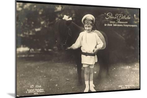 Prinz Wilhelm Von Preußen, Pony, Photochemie 2346--Mounted Giclee Print