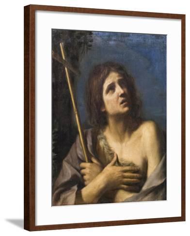 Saint John the Baptist, Francesco Barbieri known as Il Guercino,1591-1666--Framed Art Print
