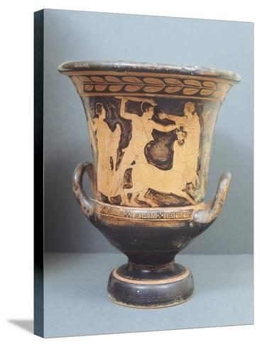 Krater Showing Centauromachy, 5th Century BC, Ancient Greece, Red-Figure Pottery--Stretched Canvas Print
