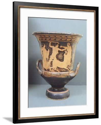 Krater Showing Centauromachy, 5th Century BC, Ancient Greece, Red-Figure Pottery--Framed Art Print