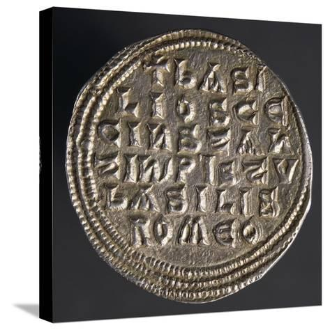 Silver Miliare of Emperor Basil I, Verso, Byzantine Coins, 9th Century--Stretched Canvas Print
